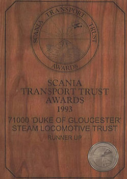 SCANIA - Transport Trust Awards 1993