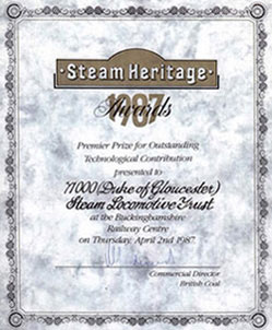 Steam Heritage Award